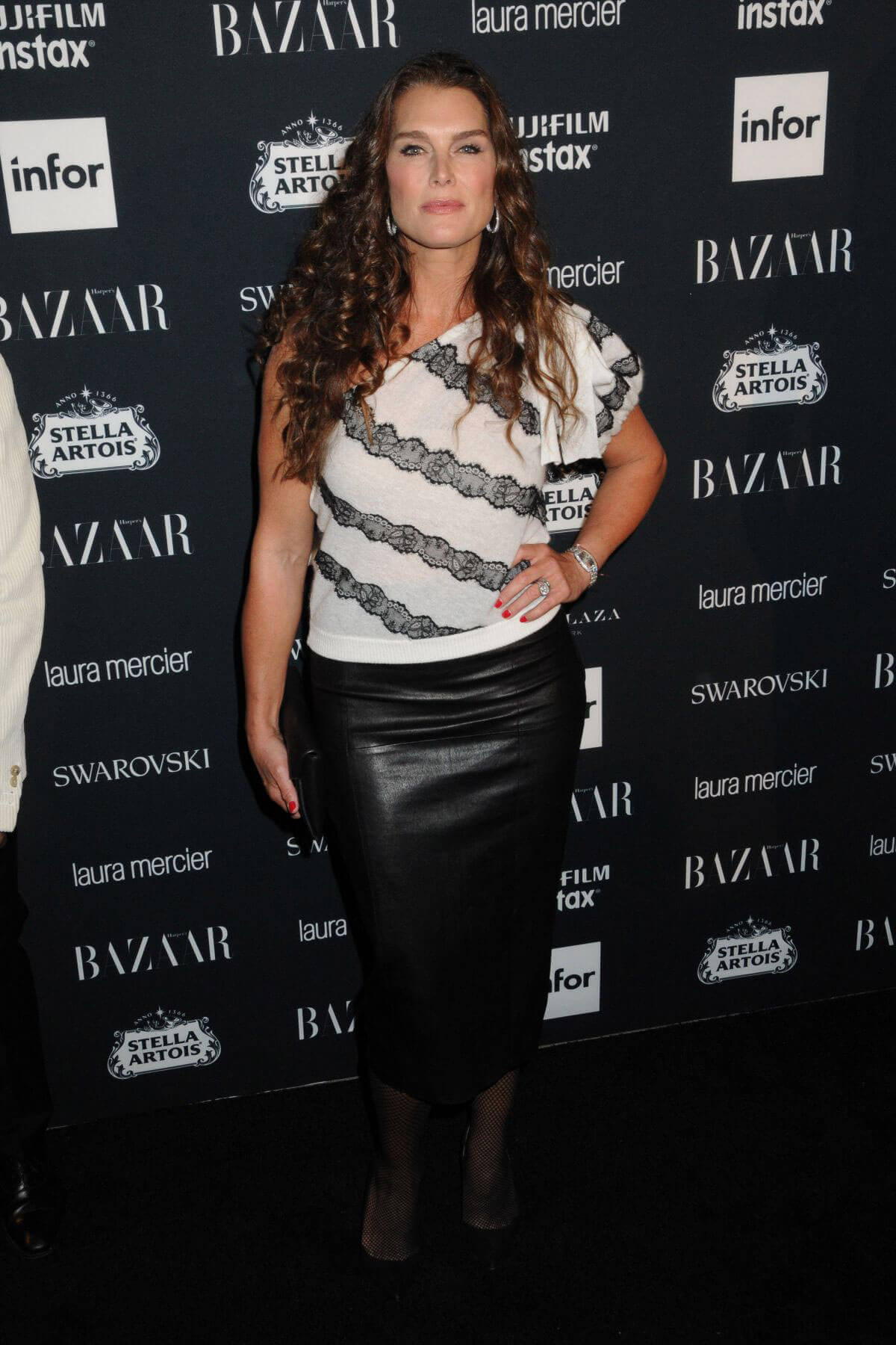 Brooke Shields Stills at Harper's Bazaar Icons Party in New York