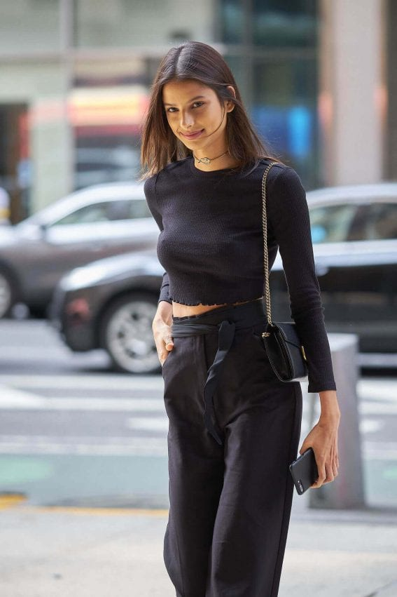 Bruna Lírio Stills at Fittings for Victoria's Secret Fashion Show in New York