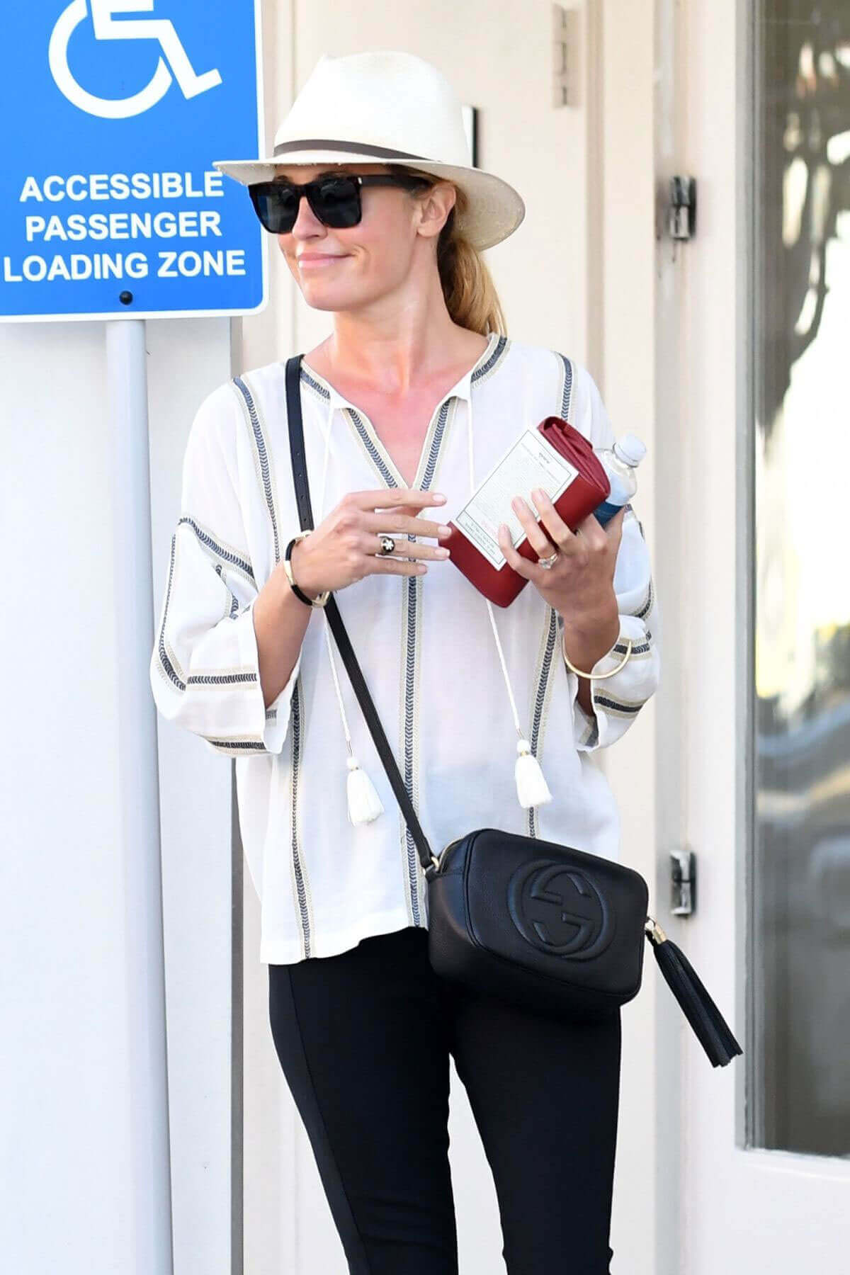 Cat Deeley wears Black Jeans Out and About in Beverly Hills