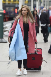 Catherine Tyldesley Stills at Train Station in Manchester