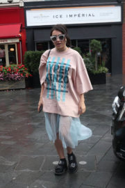 Charli XCX flaunts Her Legs in Transparent Bottom Arrives at Global Radio in London