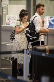 Charli XCX with Her Partners Stills at Tegel Airport in Berlin