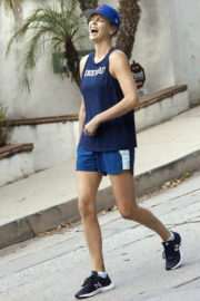 Charlize Theron wears 'KnockOut' Tank Top Working Out in Los Angeles