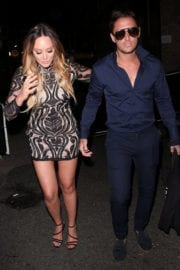 Charlotte Crosby with Stephen Bear Stills Leaves Her Hotel in London