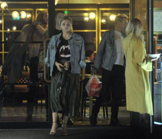 Chloe Grace Moretz and Maika Monroe Stills Out for Dinner in Dublin