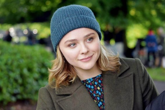 Chloe Grace Moretz Stills on the Set of 'The Widow' in Dublin