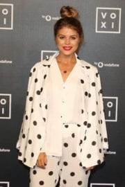 Chloe Lewis wears Dotted Suits at Voxi Launch Party in London