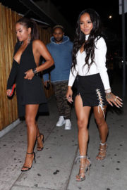 Christina Milian and Karrueche Tran Stills at Nice Guy in West Hollywood