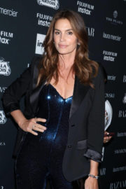 Cindy Crawford Stills at Harper's Bazaar Icons Party in New York