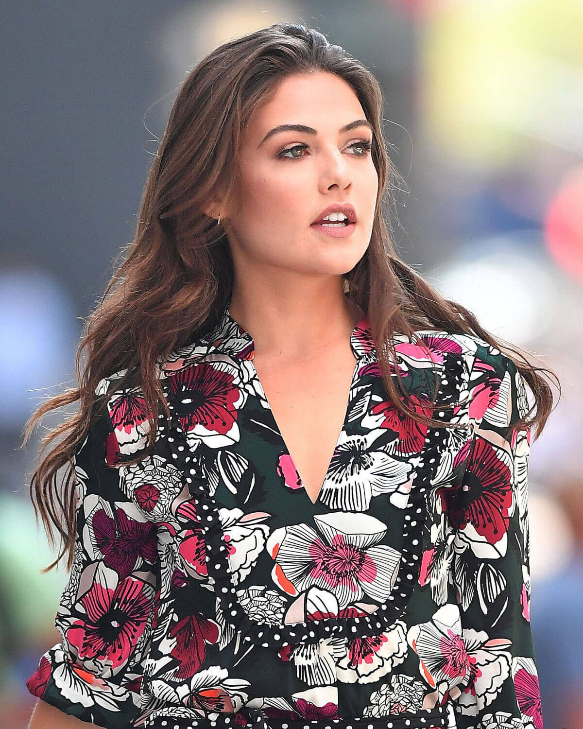 Stunning And Surprising New Looks: Danielle Campbell Stunning Look In Short Dress Out And