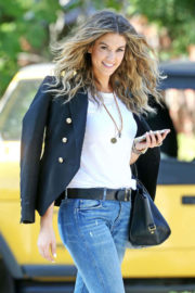 Delta Goodrem Stils in Blue Jeans Out in Los Angeles