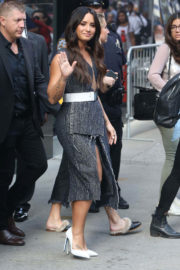Demi Lovato shows off toned legs at Good Morning America in New York