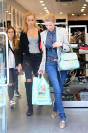 Donna Air Stills with Her Daughter FREYA AIR Shopping on Kings Road in London