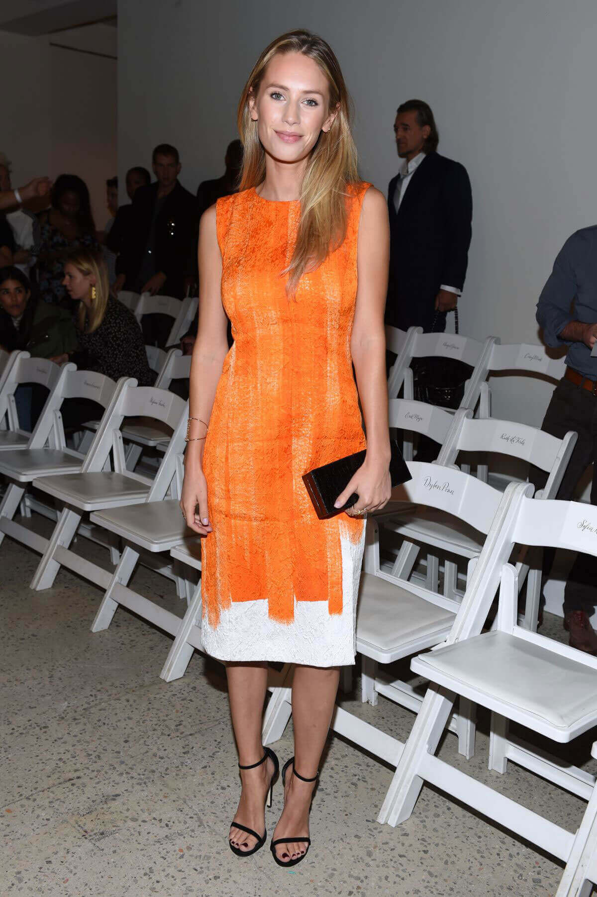 Dylan Penn at Oscar De La Renta Fashion Show at NYFW in New York