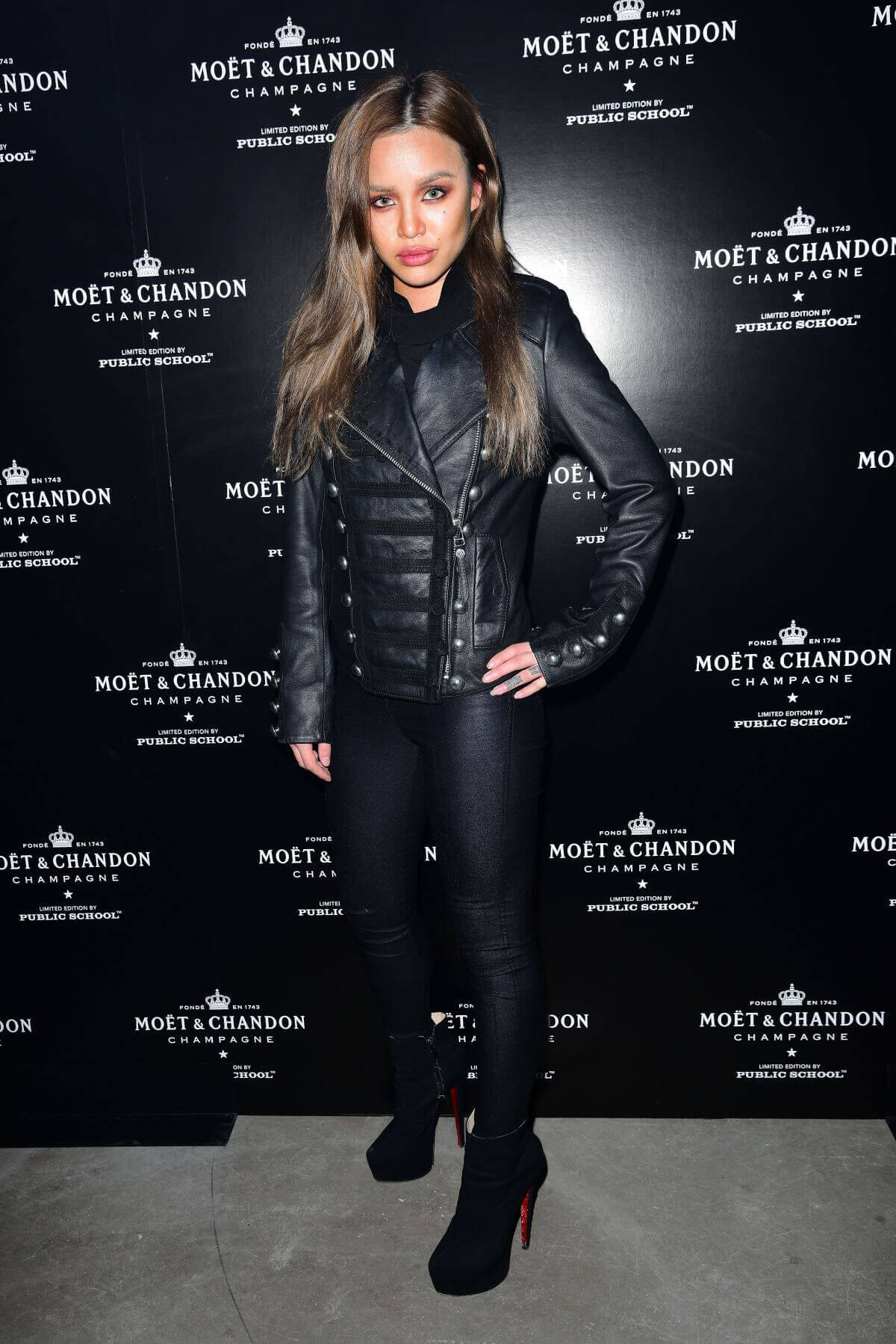 Eleanor Castellani at Moet & Chandon by Public School Launch Celebration at New York Fashion Week