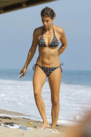 Elisabetta Canalis Stills in Bikini on the Beach in Malibu