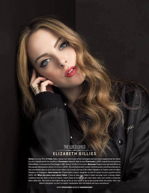 Elizabeth Gillies Poses for Emmy Magazine, Issue No. 7