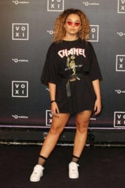 Ella Eyre shows off legs in dress at Voxi Launch Party in London