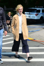 Elle Fanning on the Set of a 'Woody Allen' Movie in New York