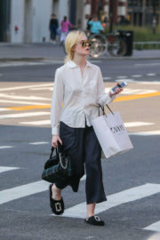Elle Fanning Out Shopping in New York