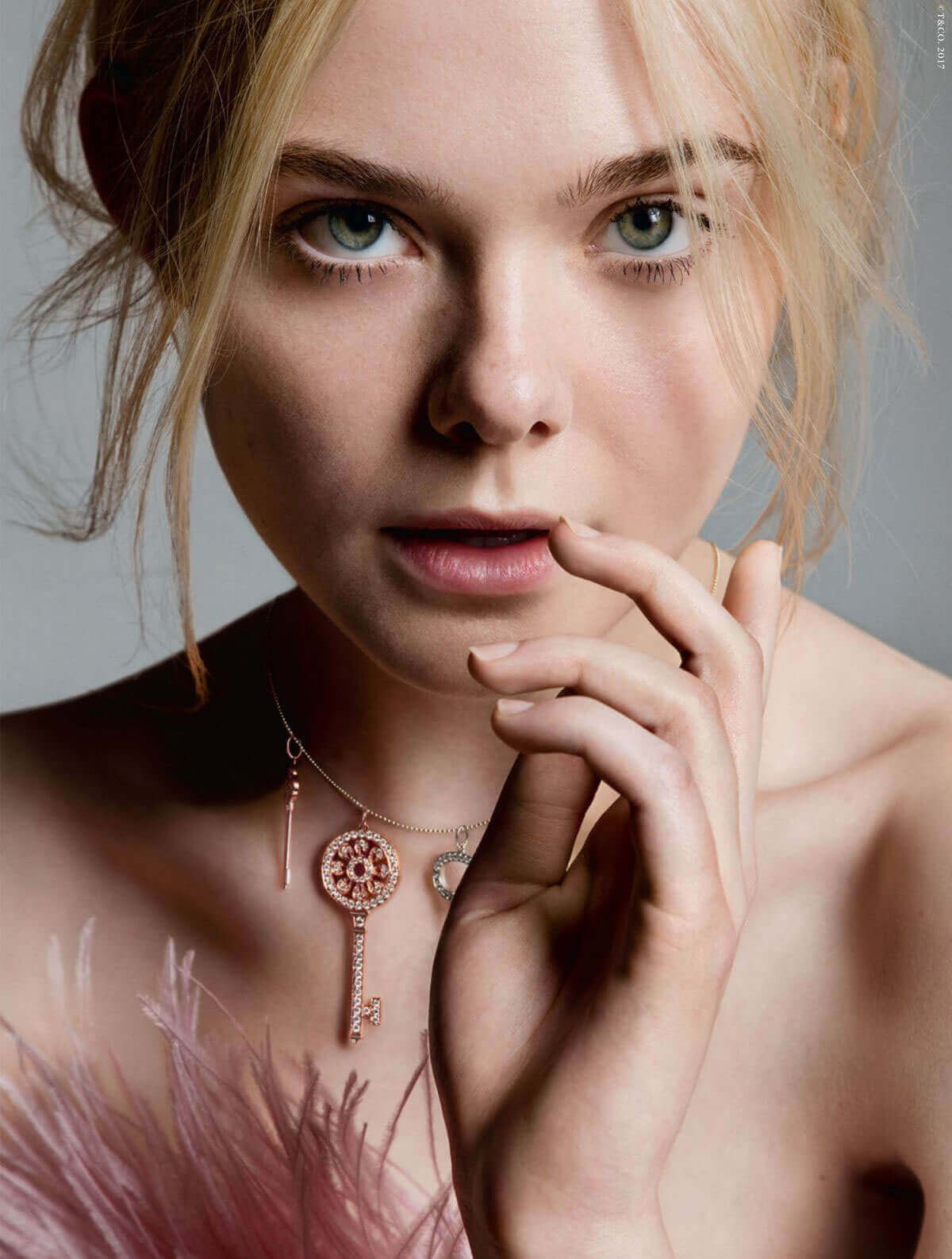 Elle Fanning Photos for Tiffany & Co. Fall/Summer 2017 Campaign