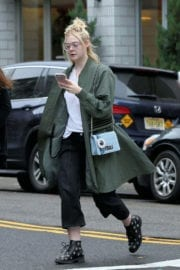 Elle Fanning Stills Out for Lunch in New York