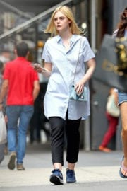 Elle Fanning Stills Out Shopping in New York Photos