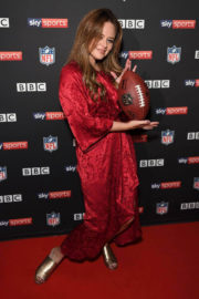 Emily Atack and Amelia Lily Stills at NFL UK Kick Off Party in London