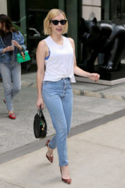 Emma Roberts in Jeans Leaves Her Hotel in New York