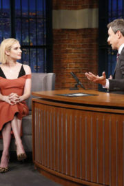 Emma Roberts on Late Night with Seth Meyers in New York