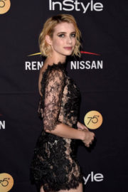 Emma Roberts Stunning Looks at Harper's Bazaar Icons Party In New York