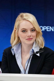 Emma Stone Stills at US Open Press Conference for 'Battle of the Sexes'