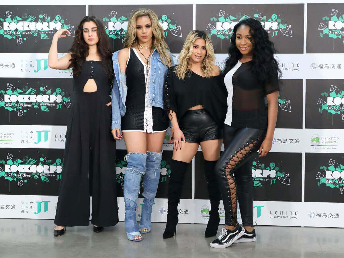 "Fifth Harmony Stills at ""RockCorps"" Photocall in Chiba City, Japan"