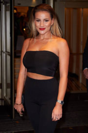 Georgia Kousoulou wears Tube Top at TV Choice Awards 2017 in London