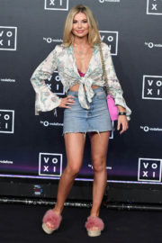 Georgia Toffolo shows off legs in short skirt at Voxi Launch Party in London
