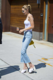 Gigi Hadid wears Tank Top and Jeans Out in New York