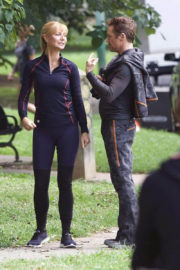 Gwyneth Paltrow Stills at Avengers: Infinity Wars Set Picstures, August 2017