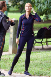 Gwyneth Paltrow Stills at Avengers: Infinity Wars Set Pictures, August 2017