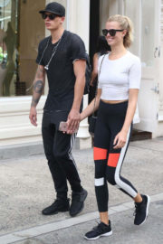 Hailey Clauson and Julian Herrera Out in New York