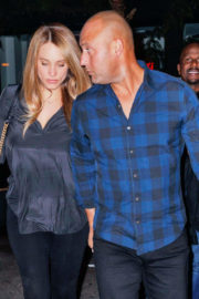 Hannah Davis and Derek Jeter Out in New York