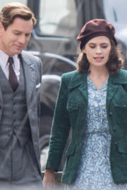 "Hayley Atwell and Ewan McGregor Stills on the Set of ""Christopher Robin"" in Gravesend"