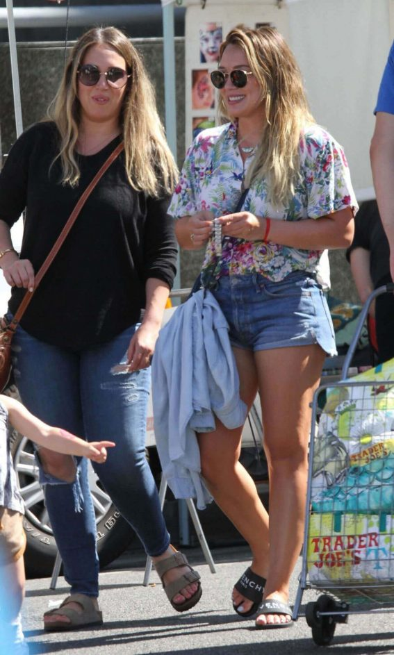 Hilary Duff and Haylie Duff Out in Studio City