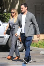 Hilary Duff and Mike Comrie Stills Leaves Sweet Butter in Studio City