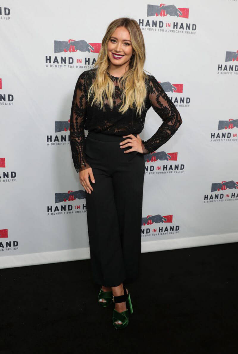 HILARY DUFF at Hand in Hand A Benefit for Hurricane Relief in Los Angeles