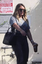Hilary Duff leaving a meeting in Los Angeles