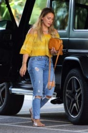 Hilary Duff Stills in Ripped Jeans Out in Beverly Hills