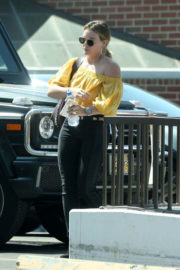 Hilary Duff Visits a Dermatologist in Beverly Hills