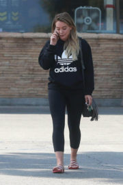 Hilary Duff wears Adidas Sweater Leaves a Grocery Store in Studio City