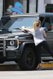 Hilary Duff wears tight leggings Out and About in Los Angeles