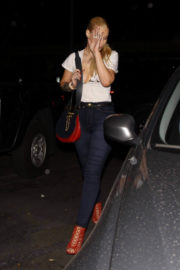 Iggy Azalea shows off deep cleavage Night Out in West Hollywood